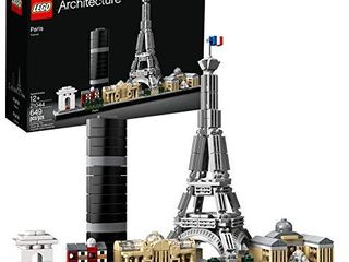 lEGO Architecture Skyline Collection 21044 Paris Skyline Building Kit With Eiffel Tower Model and other Paris City Architecture for build and display  649 Pieces