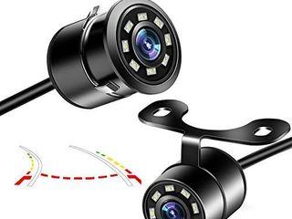 Car Backup Camera  Niloghap Universal IP69K Waterproof Rear View Camera  IR Night Vision with Dynamic Trajectory Guide line Reverse Camera for Car Pickup Truck SUV RV Van