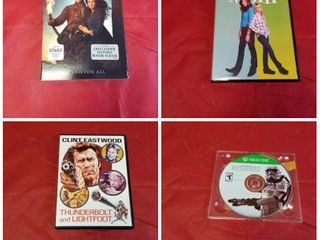 3 DVD S AND 1 XBOX GAME