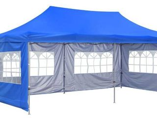 10x20 Pop Up Gazebo Canopy Tent With Sides
