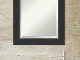 Utopia Alley Medium Black Modern Mirror  24 in  H x 24 in  W