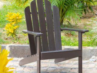Brown   Hillsdale Outdoor Patio Acacia Adirondack Chair  Retail 137 49  Slight Sliver Damage