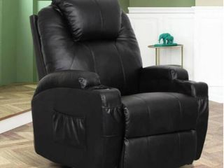 Black leather Swivel Rocker Recliner  Missing Power Cord And Remote