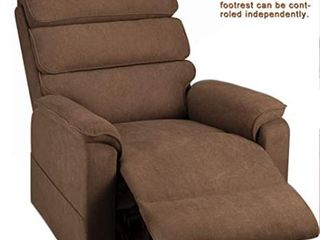 Esright Dual Motor Power Massage Recliner Brown