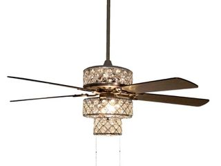 River of Goods 52 inch Triple Crown lED Ceiling Fan with light