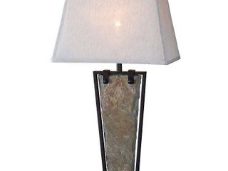 Kenroy Home Free Fall Table lamp  Natural Slate