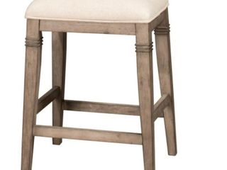 Hillsdale Arabella Backless Non Swivel Wood Counter Stool