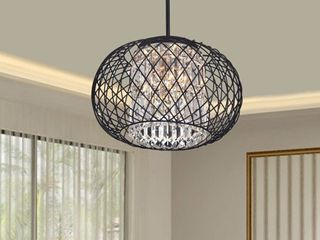 Antique Black  Crystal  Pendant Chandelier  Retail 133 99