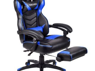 Elecwish Black Blue Gaming Chair