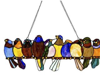 River Of Goods Stained Glass Birds