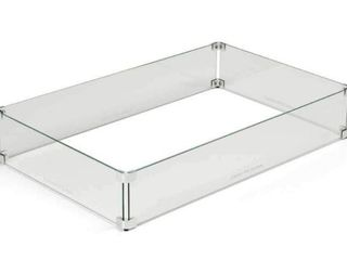Glass Wind Guard For Outdoor Firepit