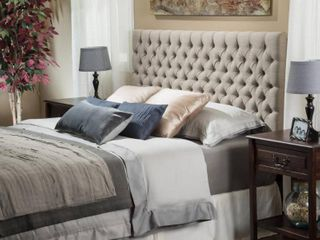 Jezebel Adjustable Full Queen Tufted Headboard by Christopher Knight Home  Retail 166 99