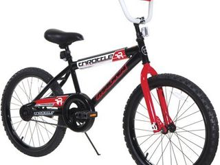 20 inch Magna Boy s Throttle Bike  Black Red