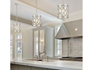 Avery Home lighting Almet Brushed Nickel 1 light Mini Pendant 1only Retail 238 00