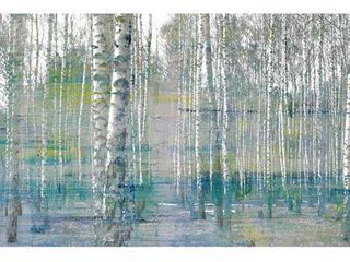 Parvez Taj    Teal Tree Forest  Painting Print on Wrapped Canvas  Retail 116 49