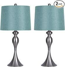 Grandview gallery set of 2lamp silver with teal green shades