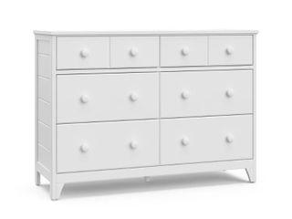Storkcraft Moss 6 Drawer Dresser   White  349 99