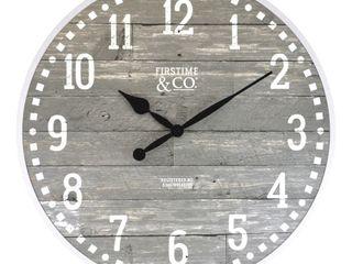 20  Arlo Gray Farmhouse Wall Clock light Gray   FirsTime   Co
