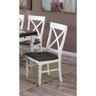 The Gray Barn Crooked Cottage X back Dining Chair  Set of 2  Retail 281 49 white short