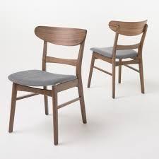 idalina mid century modern dining chairs dark grey set of 2