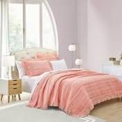 beaute living ruffle stripe comforter set twin orange
