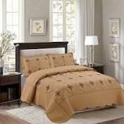 Porch   Den Heceta Embroidered 3 piece Bed Coverlet Set queen