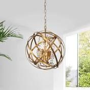 jojospring Benita Yellow ish Gold 5 light Metal Globe Crystal Chandelier  Retail 169 99 gold