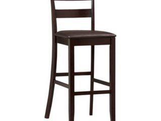 linon Triena Collection Soho Wood Espresso Bar Stool  30 inch seat height 1only