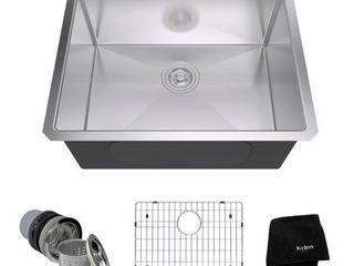 KRAUS Standart PRO Stainless Steel 23 inch Undermount Kitchen Sink  Retail 259 95