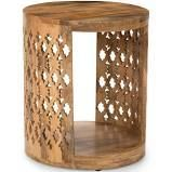 Steve silver co brody mango wood round end table