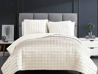 King 3pc lyndon Quilt Set Off White   Riverbrook Home