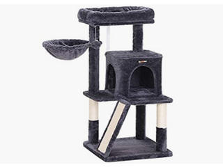 FEANDREA Cat Tree with Sisal Covered Scratching Posts  Cat Tower  Cat Condo