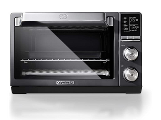 Calphalon Quartz Heat Countertop Toaster Oven  Stainless Steel  Extra large Capacity  Black  Dark Gray