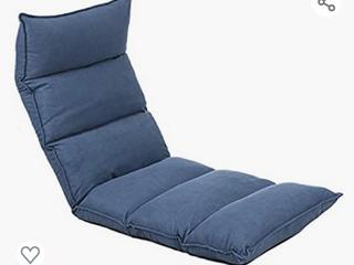 FlOGUOR Floor Chair 14 Position Head Back Foot Adjustable Elegant lounger Chair  Blue  014Bl