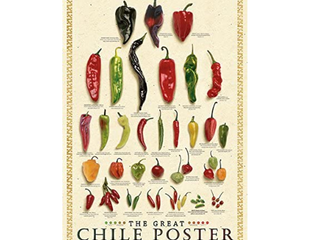 The Great Chile Poster Fresh by Mark Miller Pepper Gourmet Kitchen Print Poster 24x36