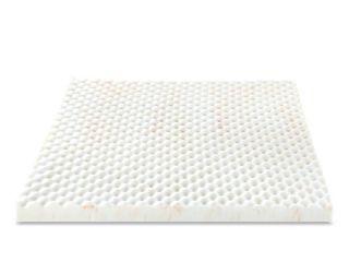 Zinus Swirl Copper Cooling 3 in  King Memory Foam Mattress Topper  White