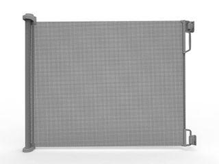 Perma Outdoor Retractable Gate  Extra Wide 71 in  Gray