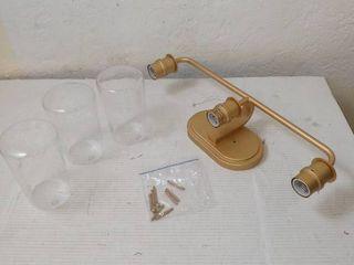 KSANA Gold Vanity lights  3 light Modern Bathroom light Fixture with Seeded Glass Shade