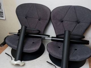 Halter Adjustable Height Bar Stools  Gray  2 Pack