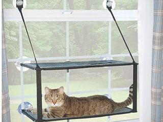 cat window perch hammock  light brown