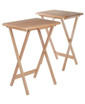 2pc Alex Snack Table Set Natural   Winsome