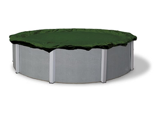 Blue Wave BWC810 Silver 28 ft Round Above Ground Winter Pool Cover  32  Forest Green
