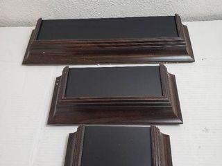 Home Decor Floating Shelves Dark Walnut Wood Grain with black laminate
