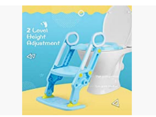 Potty Training Seat with Adjustable ladder  Blue