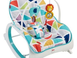 Fisher Price Infant To Toddler Rocker  Green with Removable Toy Bar