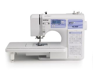 Brother HC1850 Computerized Sewing and Quilting Machine with 130 Built in Stitches  9 Presser Feet  Sewing Font  Wide Table  and Instructional DVD