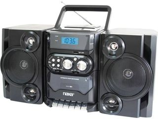 NAXA Electronics Portable MP3 CD Player with AM FM Stereo Radio and Cassette Player Recorder