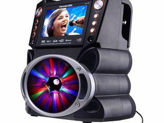 Karaoke USA Complete Bluetooth Karaoke System with lED Sync lights  GF846