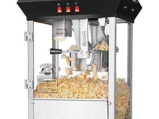 Superior Popcorn Black Countertop Movie Night Popcorn Popper Machine  8 Ounce