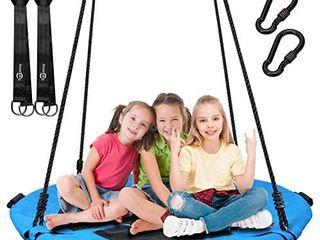 Trekassy 700lb Saucer Tree Swing for Kids Adults 40 Inch Textilene Wear  Resistant Waterproof Frame Includes 2 Tree Hanging Straps